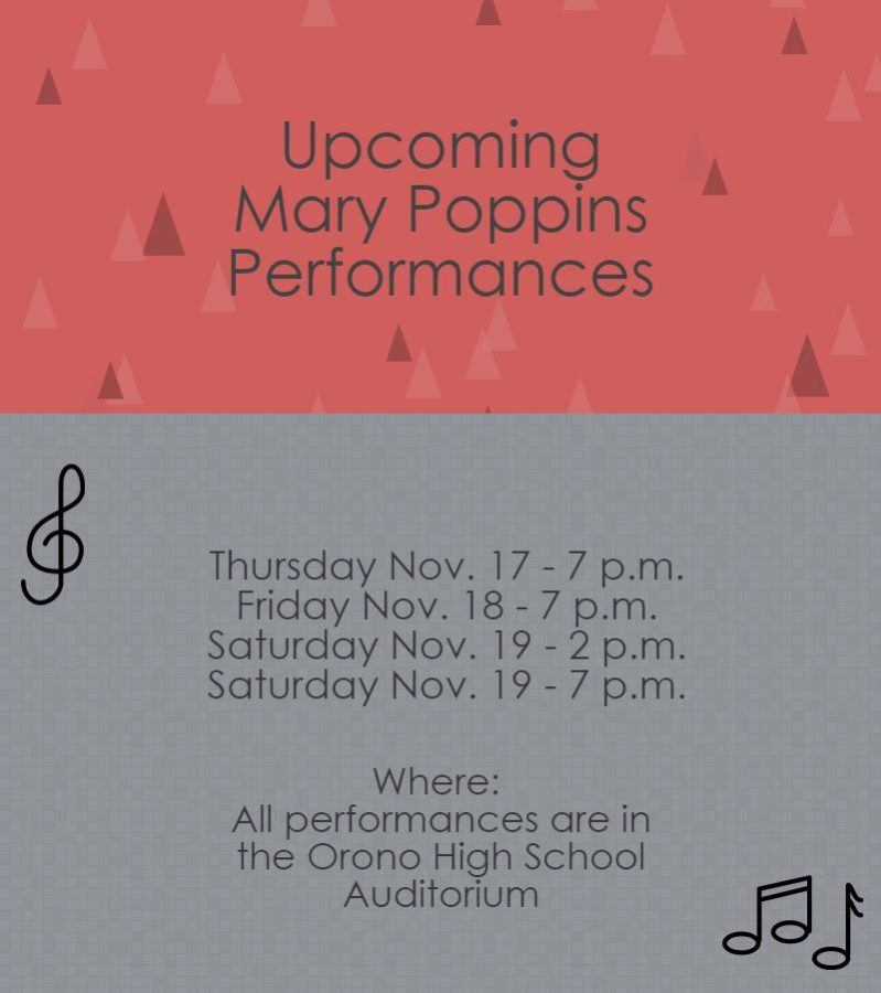 Mary Poppins Comes to Orono for the Fall Musical